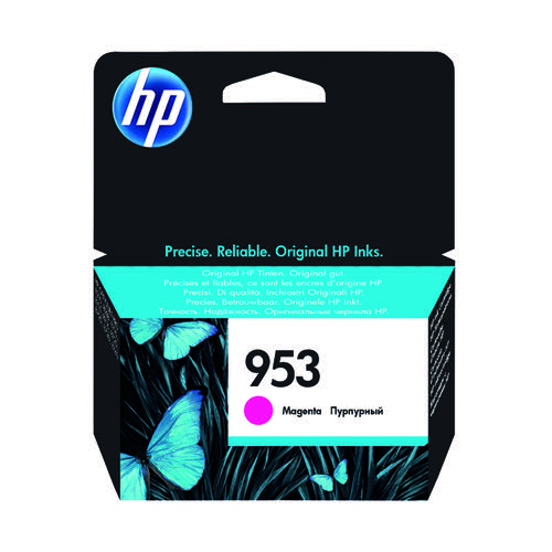 HP 953 Ink Magenta Cartridge (Standard Yield 700 Page Capacity) F6U13AE