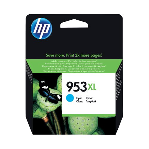 HP 953XL HY Ink Cyan Cartridge F6U16AE#BGX