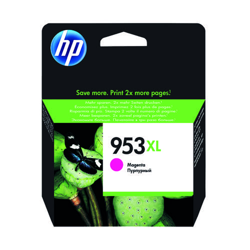 HP 953XL HY Ink Magenta Cartridge F6U17AE