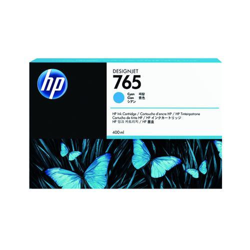 HP 765 Cyan Original Ink Cartridge F9J52A