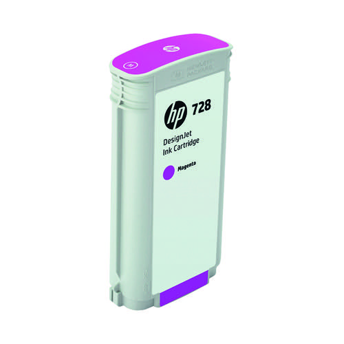 HP 728 DesignJet Ink Magenta Cartridge 130ml F9J66A