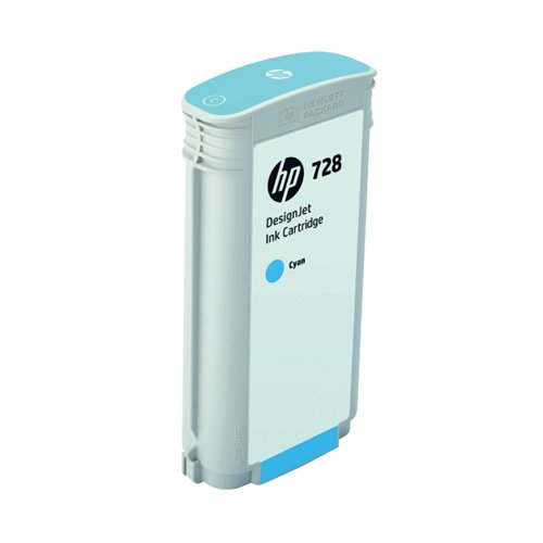 HP 728 DesignJet Ink Cyan Cartridge 130ml (Capacity: 130ml) F9J67A