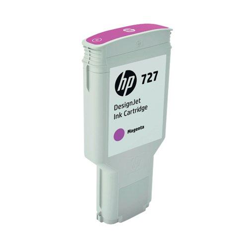 HP 727 DesignJet Magenta Ink Cartridge 300ml F9J77A