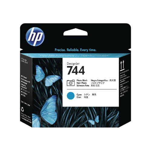 HP 744 Photo Black and Cyan Printhead F9J86A