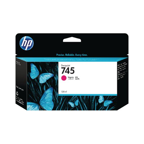 HP 745 DesignJet Ink Magenta Cartridge F9J95A