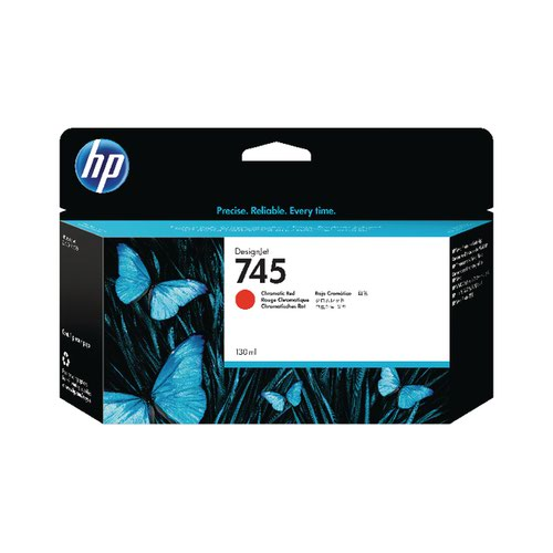 HP 745 DesignJet Ink Cartridge Chromatic Red F9K00A