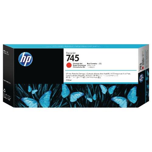 HP 745 DesignJet Ink Cartridge Chromatic Red F9K06A