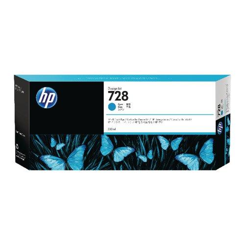 HP 728 Ink Cyan Cartridge (Standard Yield 300ml) F9K17A#BGX