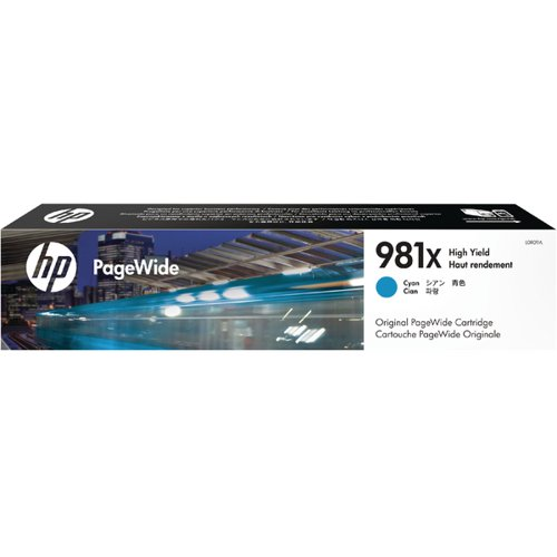 HP 981X PageWide HY Ink Cyan Cartridge L0R09A