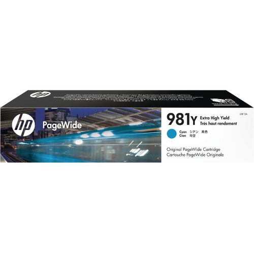 HP 981Y Extra High Yield PageWide Ink Cyan Cartridge L0R13A