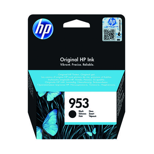 HP 953 Black Ink Cartridge (Standard Yield 23.5ml 1000 Page Capacity) L0S58AE