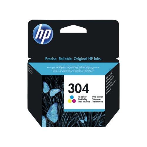 HP 304 Ink Cartridge Tricolour N9K05AE