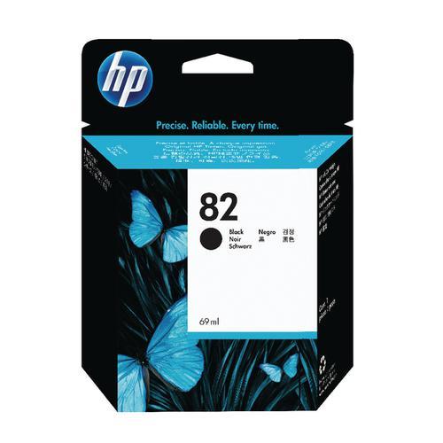 HP 82 Black DesignJet Ink Cartridge 69ml (Pack of 2) P2V34A