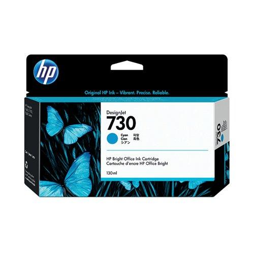 HP 730 130ml Cyan DesignJet Ink Cartridge (Capacity: 130ml) P2V62A