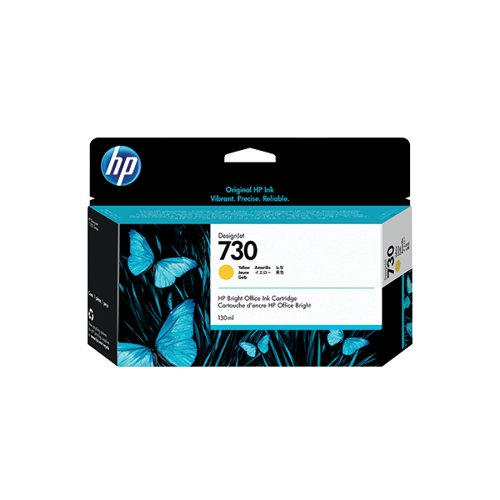 HP 730 130ml Yellow DesignJet Ink Cartridge P2V64A