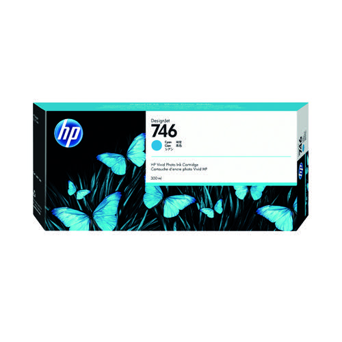 HP 746 300ml Cyan Ink Cartridge P2V80A