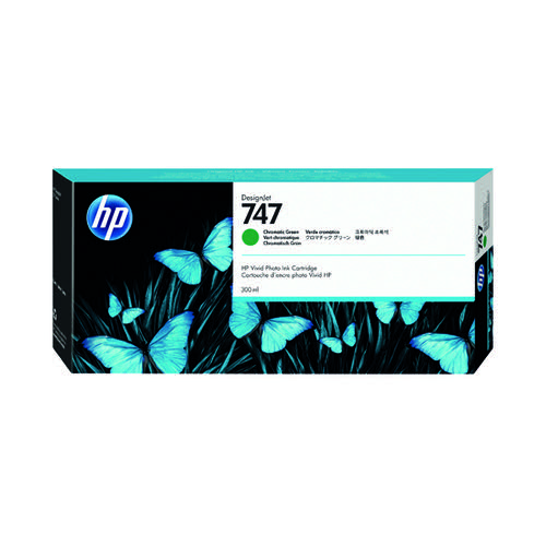 HP 747 300ml Chromatic Green Ink Cartridge (for use with HP Designjet Z9+) P2V84A