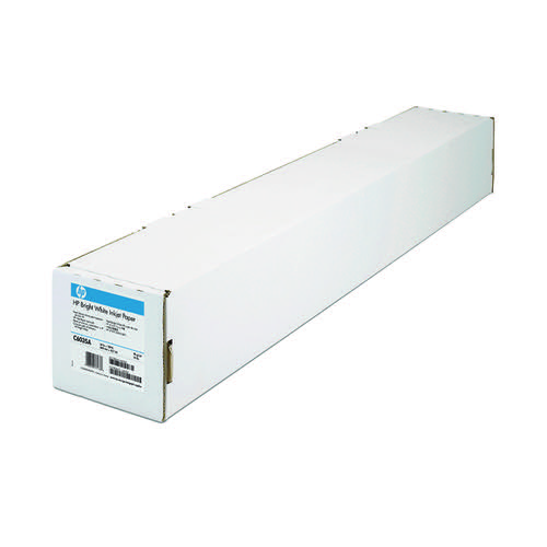 HP Bright White Inkjet Paper 841mm x45.7m (Quality 90 gsm paper reduces amount of smear) Q1444A
