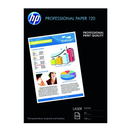 HP A4 White Professional Glossy Laser Paper 120gsm (Pack of 250) CG964A