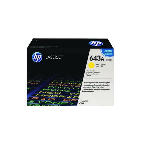 HP 643A Yellow Laserjet Toner Cartridge Q5952A