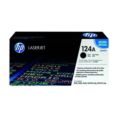 HP 124A Black Laserjet Toner Cartridge Q6000A