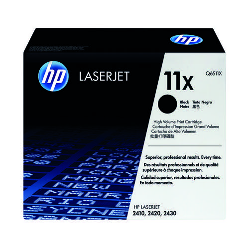 HP 11X Black High Yield Laserjet Toner Cartridge Q6511X