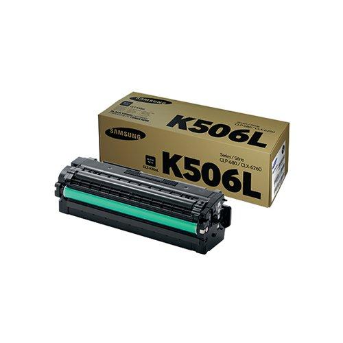 Samsung CLT-K506L Black High Yield Toner Cartridge SU171A