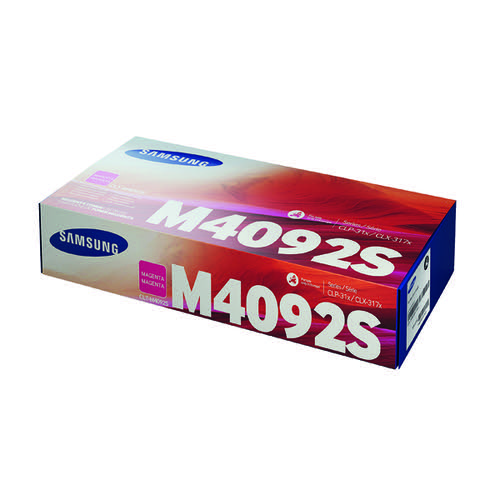 Samsung CLT-M4092S Magenta Standard Yield Toner Cartridge SU272A