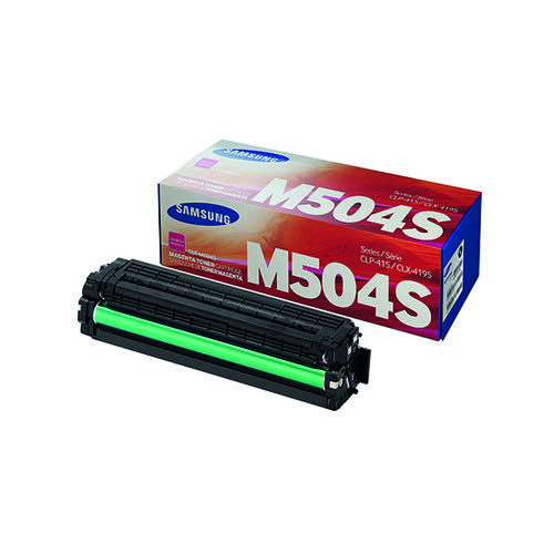 Samsung CLT-M504S Magenta Toner Cartridge (Capacity: 1800 pages) SU292A