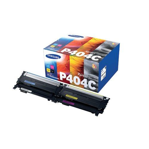 Samsung CLT-P404C CMYK Standard Yield Toner Cartridges (Pack of 4) SU364A