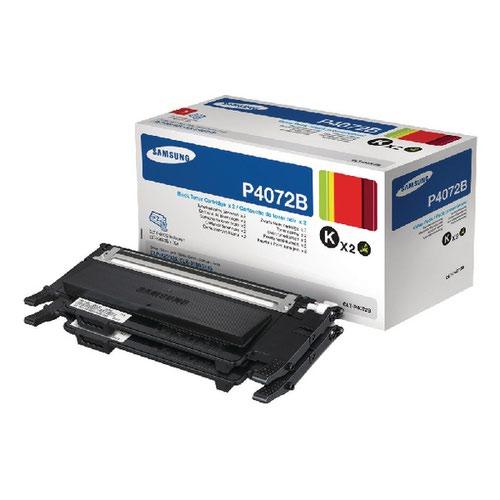 Samsung CLT-P4072B Black Standard Yield Toner Cartridges (Pack of 2) SU381A