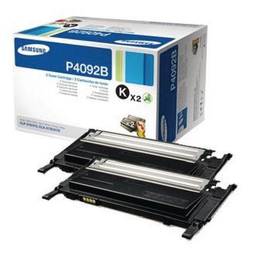 Samsung CLT-P4092B Black Standard Yield Toner Cartridges (Pack of 2) SU391A