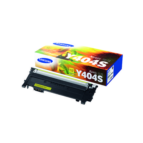 Samsung CLT-Y404S Yellow Standard Yield Toner Cartridge SU444A