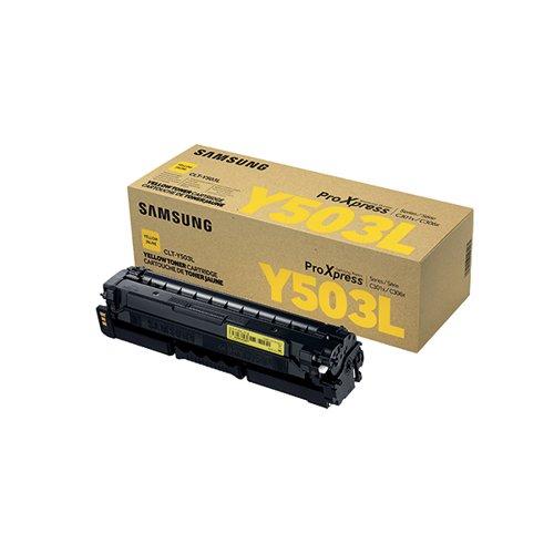 Samsung CLT-Y503L High Yield Yellow Toner Cartridge SU491A