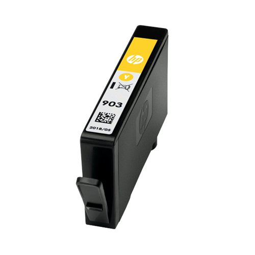 HP 903 Ink Yellow Cartridge (Standard Yield 400 Page Capacity) T6L95AE