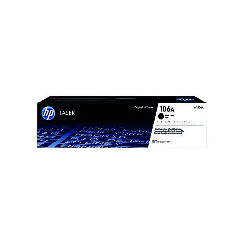 HP 106A Black Original Laser Toner Cartridge W1106A