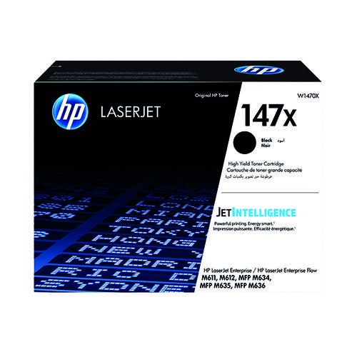 HP 147X Laserjet Toner Cartridge High Yield Black W1470X