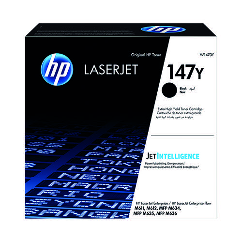 HP 147Y Laserjet Toner Cartridge Extra High Yield Black W1470Y