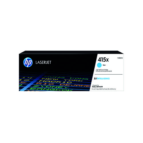 HP 415X Cyan LaserJet Toner Cartridge W2031X