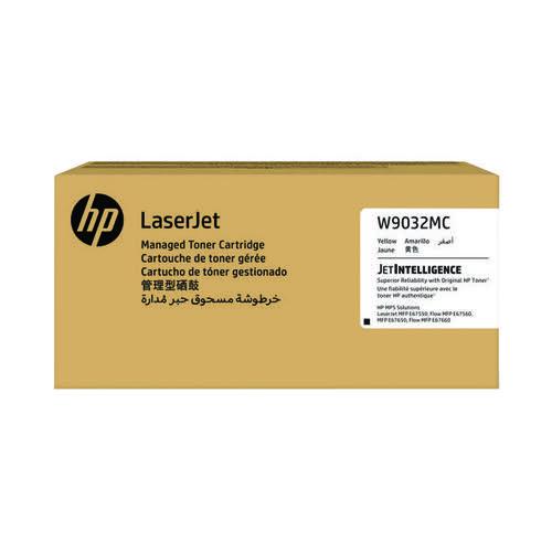 HP W9032MC Yellow Managed Original LaserJet Toner Cartridge W9032MC