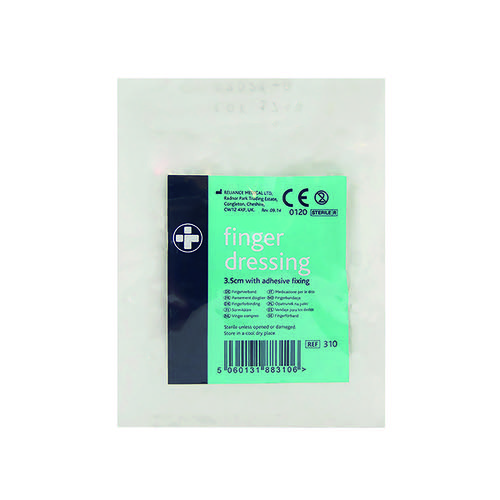 Reliance Medical Finger Dressing Adhesive Fixing 35mm (Pack of 10) 310