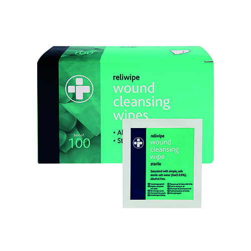 Reliance Medical Reliwipe Wound Cleansing Wipes (Pack of 100) 745
