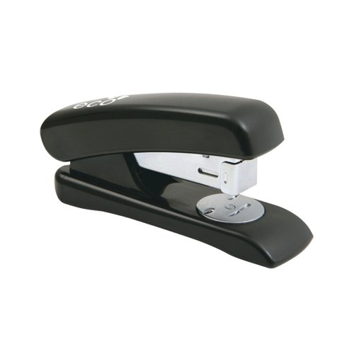 Rapesco Eco Half Strip Stapler Capacity 20 Sheets Black 1084