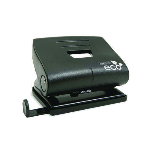 Rapesco Eco Medium Hole Punch Capacity 22 Sheets Black 1086