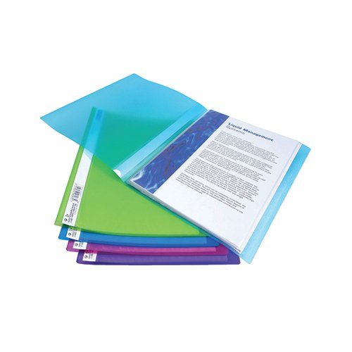 Rapesco Flexi Display Book 40 Pocket A4 Assorted (Pack of 10) 0917