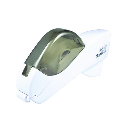 Rapesco SupaCut Tape Dispenser with x2 Rolls Tape White 1445