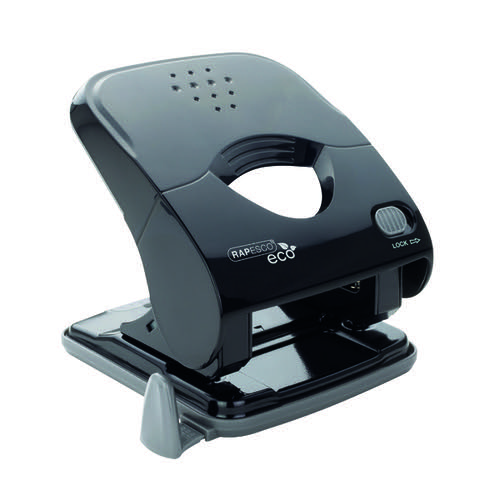Rapesco ECO X5-40ps Less Effort 2 Hole Punch Black 1525