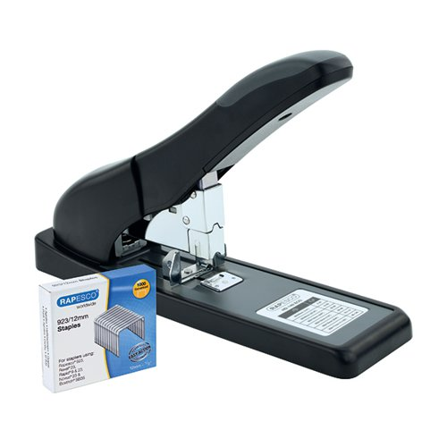 Rapesco ECO HD-140 Heavy Duty Stapler Black 1550