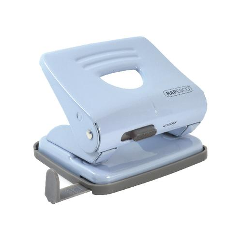 Rapesco 825 2 Hole Metal Punch Capacity 25 Sheets Powder Blue 1359