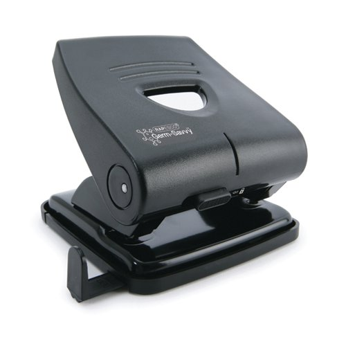 Rapesco Germ-Savvy 827-P 2-Hole Hole Punch 30 Sheets Black PF827PB2